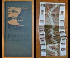 Piantina/cartina Rheinlauf Von Mainz Bis Koln (Reno Da Magonza A Colonia) 1908 - Europa