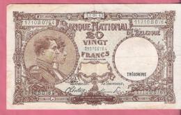 BELGIE 20 FRANCS 11-4-45 P111 - [ 2] 1831-... : Royaume De Belgique
