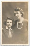 04 - Basses Alpes - Digne 1948 Jeune Fille éclaireuse De France Et Sa Mère Scout Carte Photo Studio Baroux - Digne