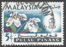 Penang (Malaysia). 1965-68 Orchids. 5c Used. SG 68 - Malaysia (1964-...)