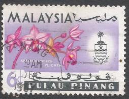 Penang (Malaysia). 1965-68 Orchids. 6c Used. SG 69 - Malaysia (1964-...)
