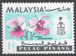 Penang (Malaysia). 1965-68 Orchids. 1c MH. Block CA W/M (Upright) SG 66 - Malaysia (1964-...)