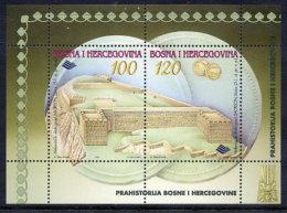 BOSNIA & HERCEGOVINA (Sarajevo) 1997 Archeological Finds Block MNH / **.  Michel Block 3 - Bosnia Herzegovina