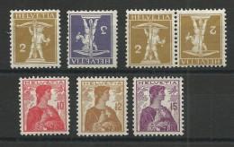 SUISSE - YVERT N° 128/133 + 128a (TETE-BECHE) SAUF N°130 **  - COTE = 109 EURO - - Suisse
