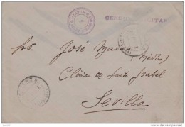 CARTA CIRCULADA DESDE ATIENZA A SEVILLA, CENSURA, RARA - 1931-50 Storia Postale