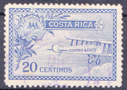 COSTA RICA - 1926 - Luchtpost/P.A  Y&T Nr(s) 1- Usado/gestempeld/obliteré/Used/gebraucht - ° - Costa Rica