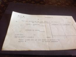Baccarat DFB  Luneville Facture - Facturas & Documentos Mercantiles