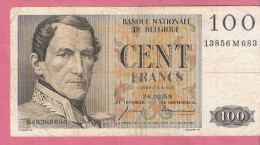 BELGIE 100 FRANCS 26-2-1959 P129 - [ 2] 1831-... : Royaume De Belgique