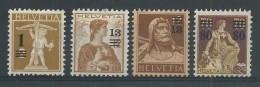SUISSE - YVERT N° 145/148 *  - COTE = 40 EURO - - Suisse