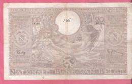 BELGIE 100 FRANCS 17-2-1938 P107 - [ 2] 1831-... : Royaume De Belgique