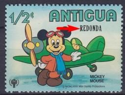 1974 Redonda     Antigua Overprint !?  Mickey Mouse ** MNH Avions Airplane Aircraft Flugzeug  [DS86] - Vliegtuigen