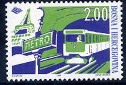BOSNIA & HERCEGOVINA (Sarajevo) 1998 Metro Railway MNH / **.  Michel 145 - Bosnia Erzegovina