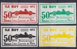 1973 FRANCE    ILE ROY   ** MNH Voiture Véhicule Camion Car Vehicle Truck Auto Fahrzeug LKW Coche Vehículo Camión [DS93] - Commemorative Labels