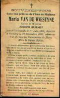 Souvenir Mortuaire VAN DE WOESTYNE Maria (1868-1935) Ep. BURNET, J. Née à GEROUVILLE Morte à GOMERY - Devotion Images