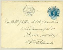 Nederlands Indië - 1915 - KB Meester Cornelis Op Envelop Naar Breda - Nederlands-Indië
