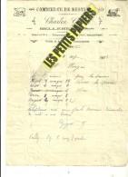 25 - Doubs - BELLEHERBE - Facture GUYOT - Commerce De Bestiaux – 1927 - REF 228C - France
