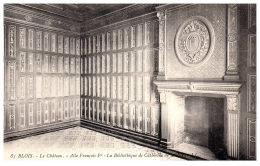 THEME - BIBLIOTHEQUE  - La Bibliothèque Du Château De BLOIS ----- - Bibliothèques