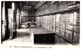 THEME - BIBLIOTHEQUE  - La Bibliothèque Du Château De Chantilly - Bibliothèques