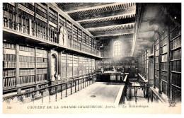 THEME - BIBLIOTHEQUE  - La Bibliothèque Du Couvent De La Grde Chartreuse - Bibliothèques