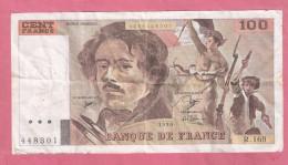 FRANKRIJK 100 FRANCS 1990 P154C - 100 F 1978-1995 ''Delacroix''