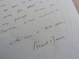 Gérard BAUER (1888-1967) Ecrivain. Académie Goncourt. Petit Fils DUMAS Père.  Autographe - Autographs