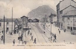 16Q - 38 - Grenoble - Isère - La Barrière Du Cours Berriat Et La Gare - Le Casque De Néron - N° 221 - Grenoble
