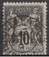 France Y&T 89       Maury 89 Voir Cachet à Date - 1876-1898 Sage (Type II)