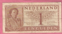 NEDERLAND 1 GULDEN 1949 - [2] 1815-… : Royaume Des Pays-Bas