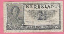 NEDERLAND 2 1/2 GULDEN 1949