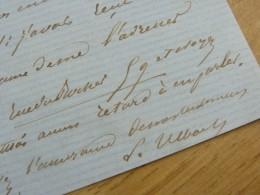 Louis ULBACH (1822-1889) Ecrivain Romancier Journaliste LA CLOCHE / FERRAGUS - Autographe - Autographs