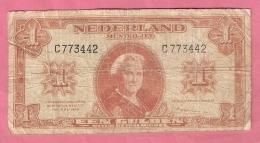 NEDERLAND 1 GULDEN 1945 - [2] 1815-… : Royaume Des Pays-Bas