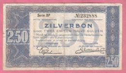 NEDERLAND 2 1/2 GULDEN 1938 ZILVERBON - [2] 1815-… : Royaume Des Pays-Bas