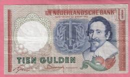NEDERLAND 10 GULDEN 1953 - [2] 1815-… : Royaume Des Pays-Bas