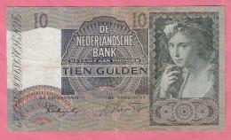 NEDERLAND 10 GULDEN 6-10-1941 - [2] 1815-… : Kingdom Of The Netherlands