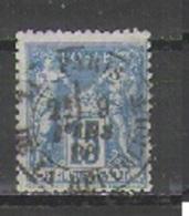 France Y&T 90       Maury 90 IIC état 3 Papier Azuré   Voir Cachet à Date - 1876-1898 Sage (Type II)