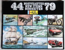 Catalogue Modélisme Maquette HELLER 1979 Avion Miltaria Voiture Moto Bateaux - Catalogues