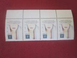 BLOC DE 4 Vignette VIGNETTES TUBERCULOSE ANTITUBERCULEUX 1988/89 =>Label Sticker-Aufkleber-Bollo-Viñeta - Commemorative Labels