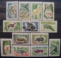 COSTA DE IVOR - IVERT 211/20 - SELLOS NUEVOS (**) SIN FIJASELLOS - ANIMALES DE CAZA - ( H 038 ) - Sellos