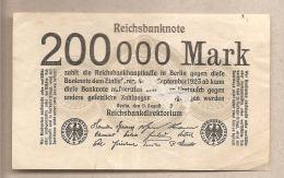 Germania - Banconota Circolata Da 200.000 Marchi - 1923 - [ 3] 1918-1933: Weimarrepubliek
