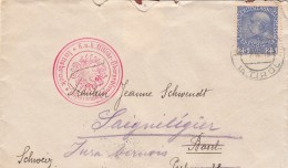 1915 COVER INNSBRUCK K.U.K. MILITAR.  TIROL TO BASEL--SAIGNELEGIER JURA  / 7516 - Cartas