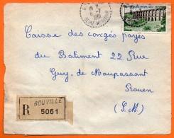 BOUVILLE   Recommandé 1961   Devant De Lettre N° Y 923 - 1961-....