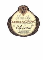 Etiquette  -   Hors D' âge  ARMAGNAC - R.A. SALAS -  Liqueurs , Armagnac, SORBETS  - Nogaro Gers - Autres