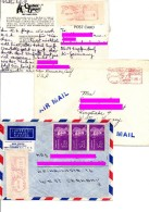 ** USA, 8 COVERS WITH RED CANCELS - PERIOD 1951-1989 - United States