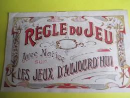 Livret / Régle Du Jeu / Notice Sur Les Jeux D'aujourd'hui/ Courses/Roulette/Mascotte/Castouillet/ Vers 1890-1900  JE184 - Other Collections