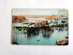 Carte Postale Ancienne : Island Of PHILAE : On The Flood, Stamp In 1910 - Aswan