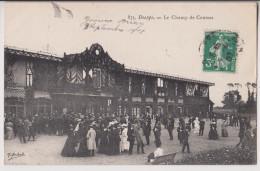 DIEPPE : LE CHAMP DE COURSES - L'ENTREE DES TRIBUNES - ECRITE 1907 - 2 SCANS - - Dieppe