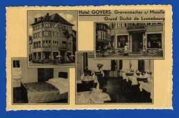 Grevenmacher  Luxembourg  Cpa : Dentelée 14 X 9 Cm Hôtel Govers . Grand Duché Du Luxembourg Moselle  1 Frotté Sur Cliché - Remich
