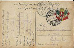 FRANCHIGIA POSTA MILITARE 25 DIVISIONE 1915 SAN PIETRO ISONZO X PALOMBARO - Military Mail (PM)