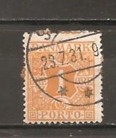 Dinamarca-Denmark Yvert Nº Tasa-9 (usado) (o) - Impuestos