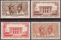 Martinique 1933-38 - Hôtel Du Gouverneur & Martiniquaises - Neuf* MH - Yvert & Tellier N° 142 à 145 - Martinique (1886-1947)
